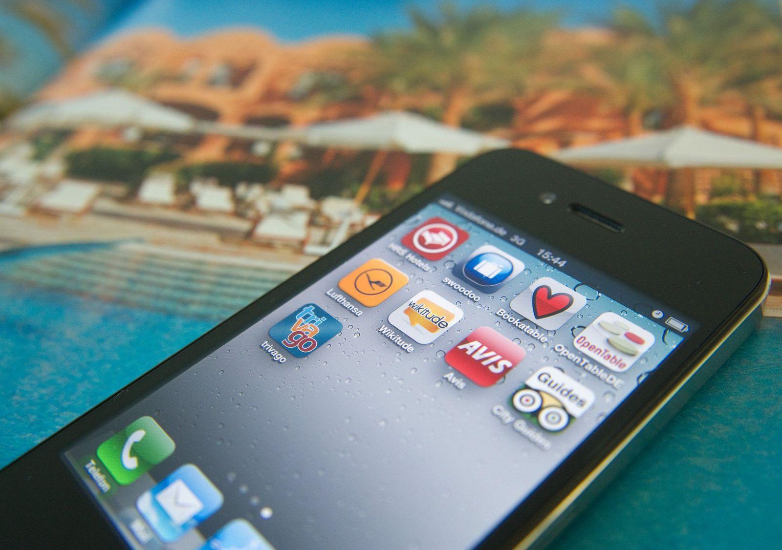 EINMALIGE VERWENDUNG Smartphone / Urlaub / Reise-Apps