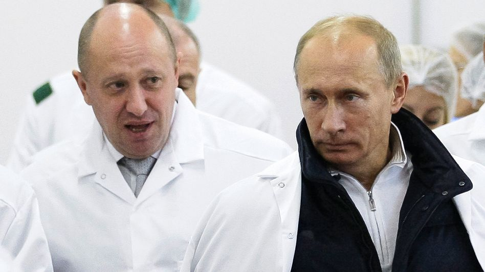 Söldnertruppen-Kontrolleur Jewgeni Prigoschin, russischer Staatspräsident Wladimir Putin.