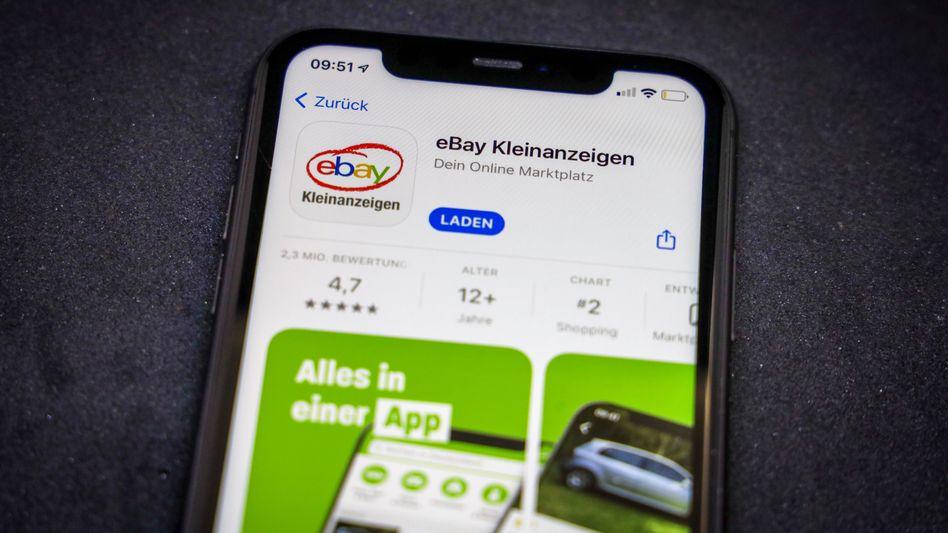 Ebay Kleinanzeigen auf dem Smartphone: Bald nur noch mit blauem Haken?