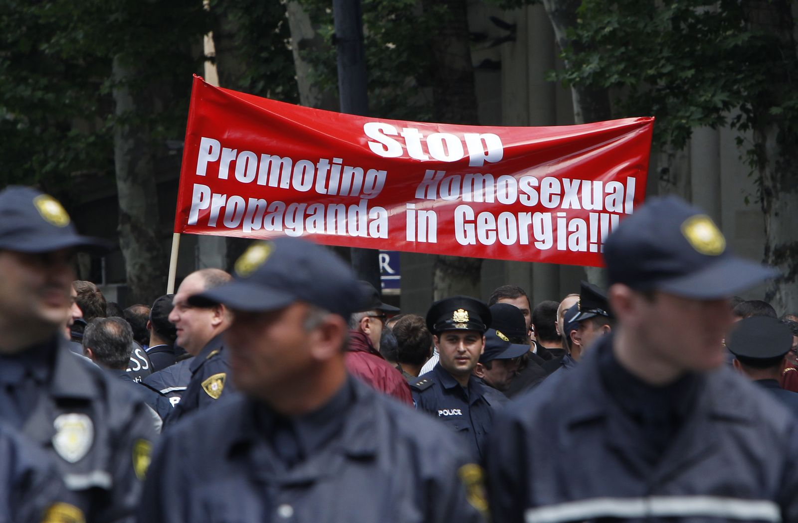 Georgien/ Anti-LGBT-Demonstration