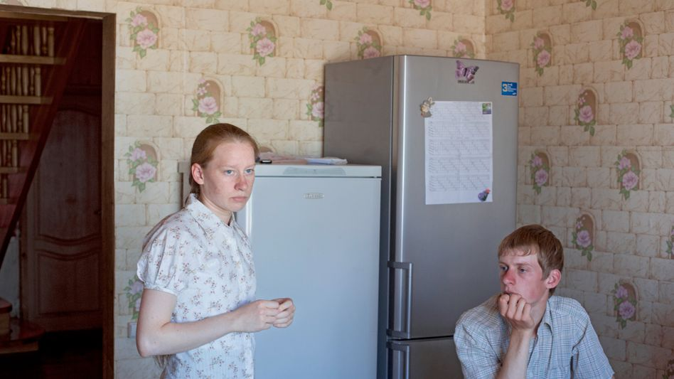 Mennonitische Geschwister in der Nähe von Omsk