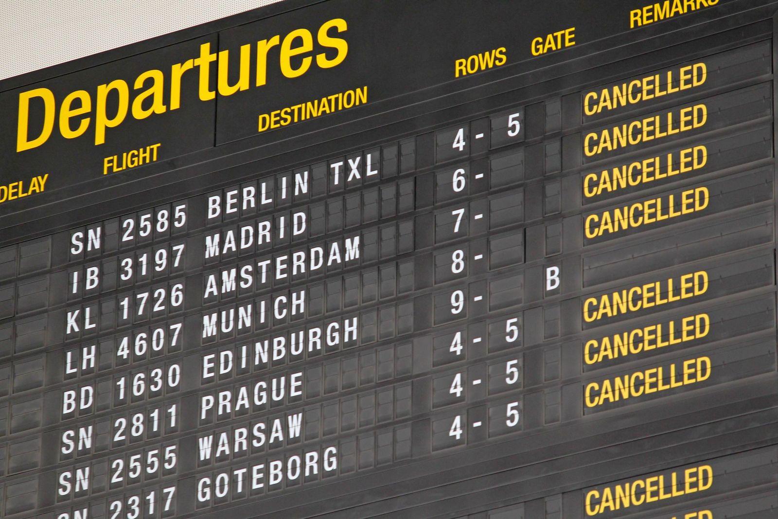 Fluglotsen-Streik in Belgien