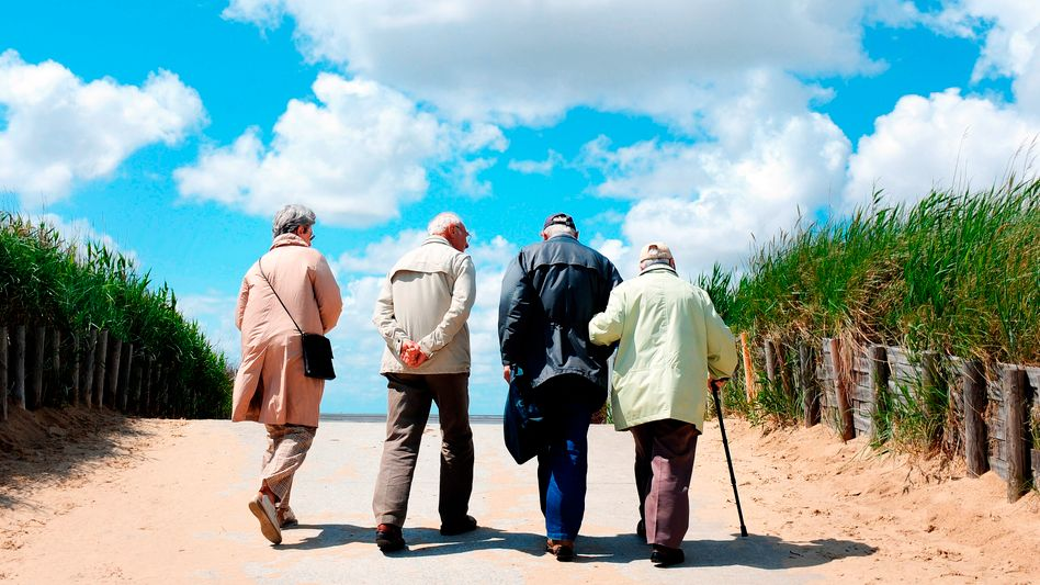 Senioren an der Nordsee