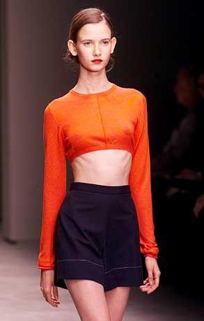 Freie Taille: Baumwoll-Top und Shorts von Prada