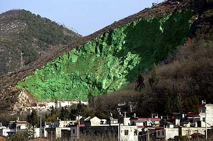 Es grünt so künstlich: 45.000 Euro kostet das öffentliche Kunstwerk