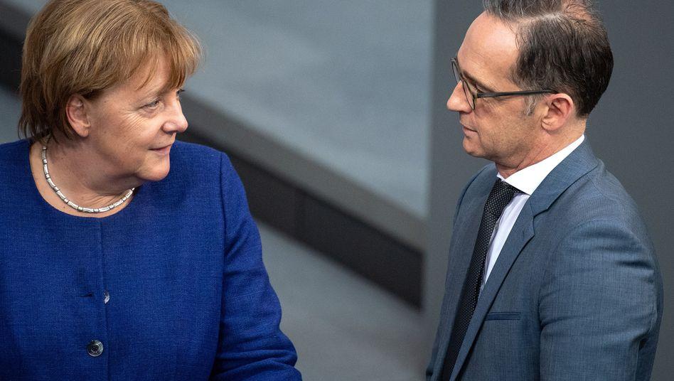 Konfliktstoff: Kanzlerin Angela Merkel (CDU) und Außenminister Heiko Maas (SPD)