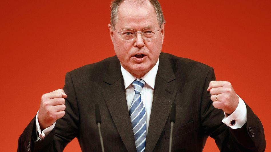 SPD-Spitzenkandidat Steinbrück: Größtes Budget der großen Parteien