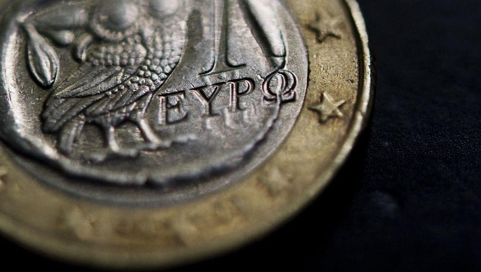 Griechische Euro-Münze: Bei einem Austritt würde es sie bald nicht mehr geben