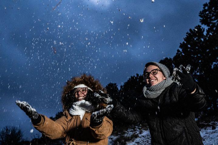 Nicht gerade ein Schneetreiben – aber immerhin Schneeflocken in Urupema, einem der kältesten Orte Brasiliens