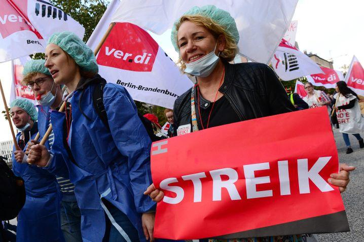 Vorbild: Streikende Pflegerinnen und Pfleger im September an der Charité in Berlin