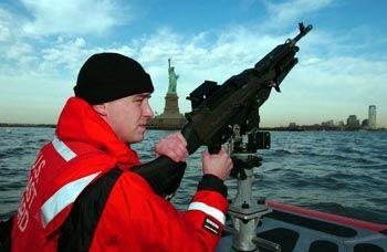 Küstenwache vor New York: Besorgt um die nationale Sicherheit