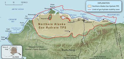 Nord-Alaska: 2,41 Billionen Kubikmeter Methangas werden hier vermutet