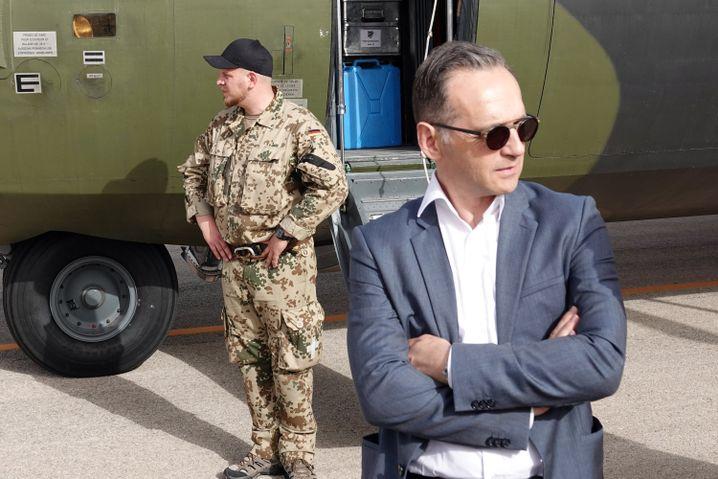 Heiko Maas beim Bundeswehrbesuch in Jordanien: ziemlich fest eingerichtet