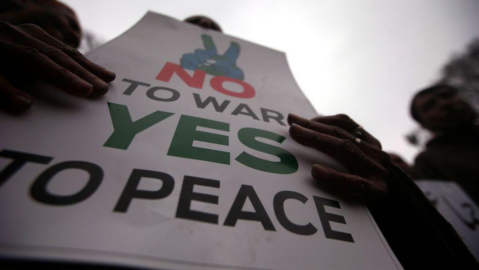 Anti-Kriegs-Demonstrationen im indischen Srinagar
