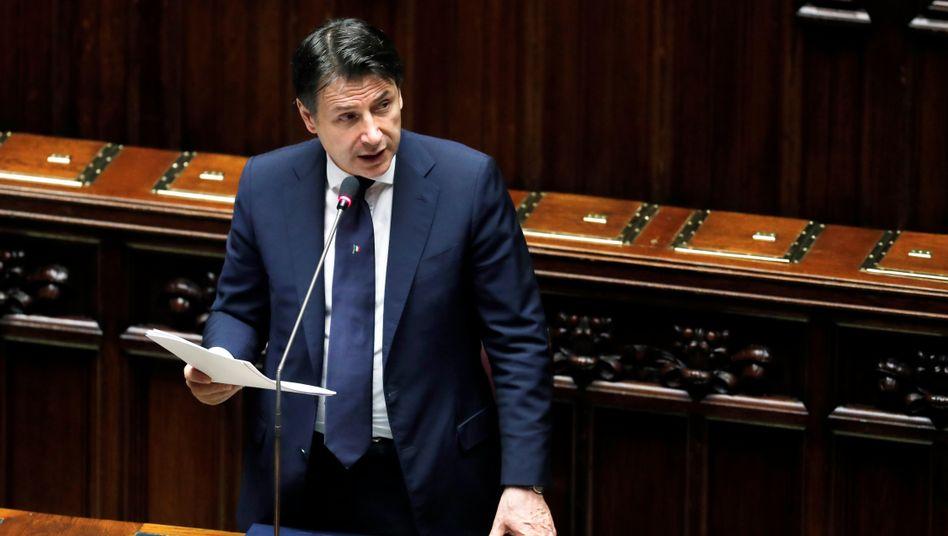 """Italiens Ministerpräsident Conte (Archiv): Beginn der """"zweiten Phase"""" im Kampf gegen das Coronavirus"""