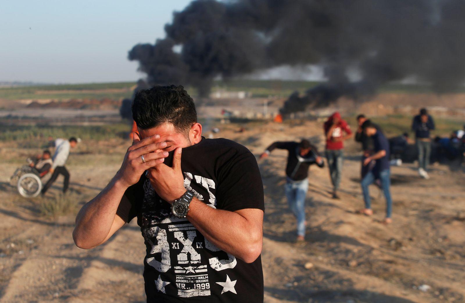 Israel Gaza Tränengas