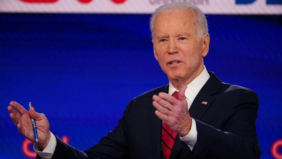 Joe Biden: Er hat gute Chancen, der Präsidentschaftskandidat der Demokraten zu werden - doch in der Coronakrise kommt er kaum vor