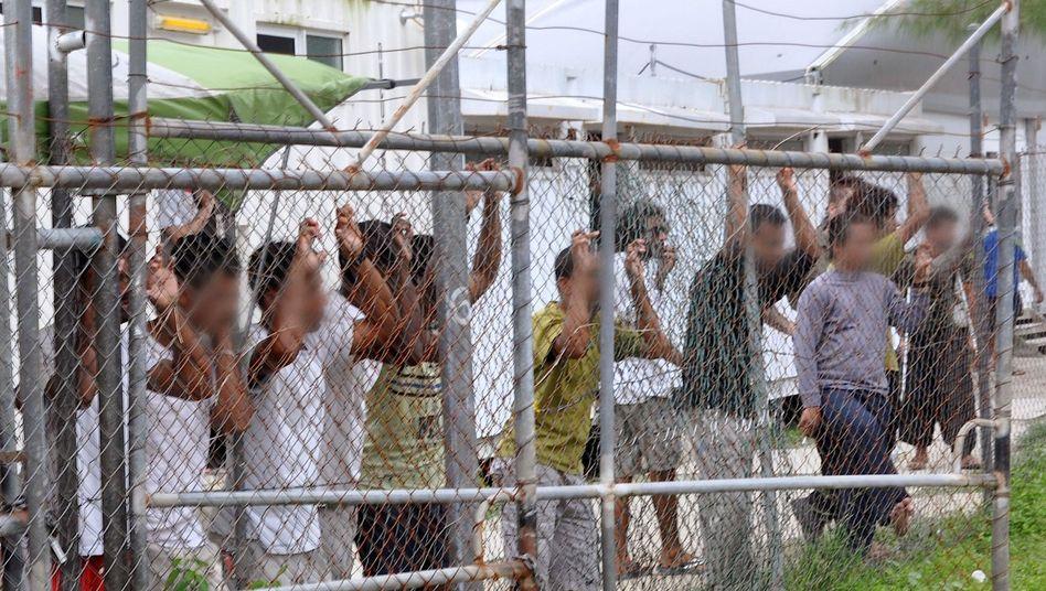 Flüchtlinge auf der Insel Manus (Archivbild von März 2014)