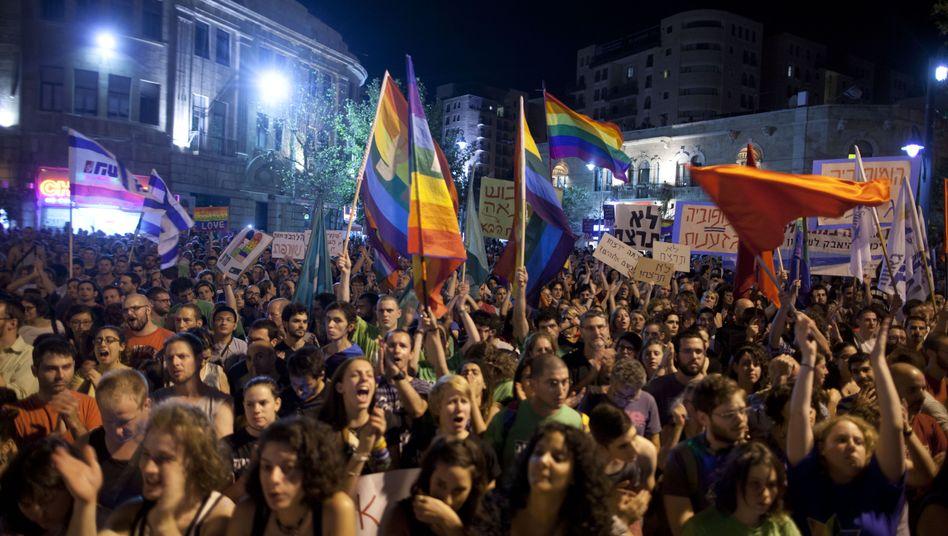 Demo in Jerusalem: Tausende setzten am Samstag ein Zeichen gegen Homophobie