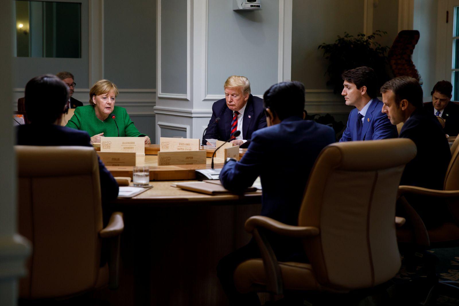 G-7 Trump Merkel