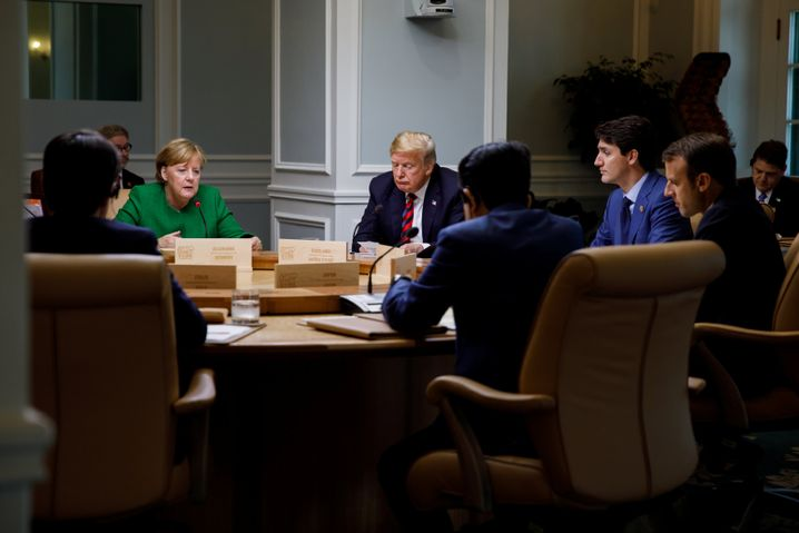 U.S. President Donald Trump at the G-7 summit in June.