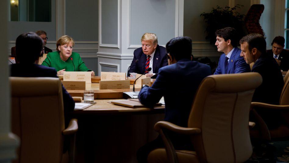 U.S. President Donald Trump at the G-7 summit on Saturday