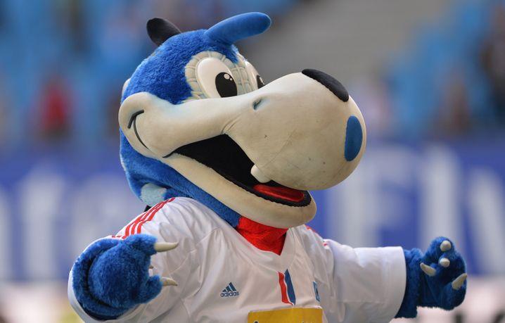 """HSV-Maskottchen """"Dino Hermann"""""""