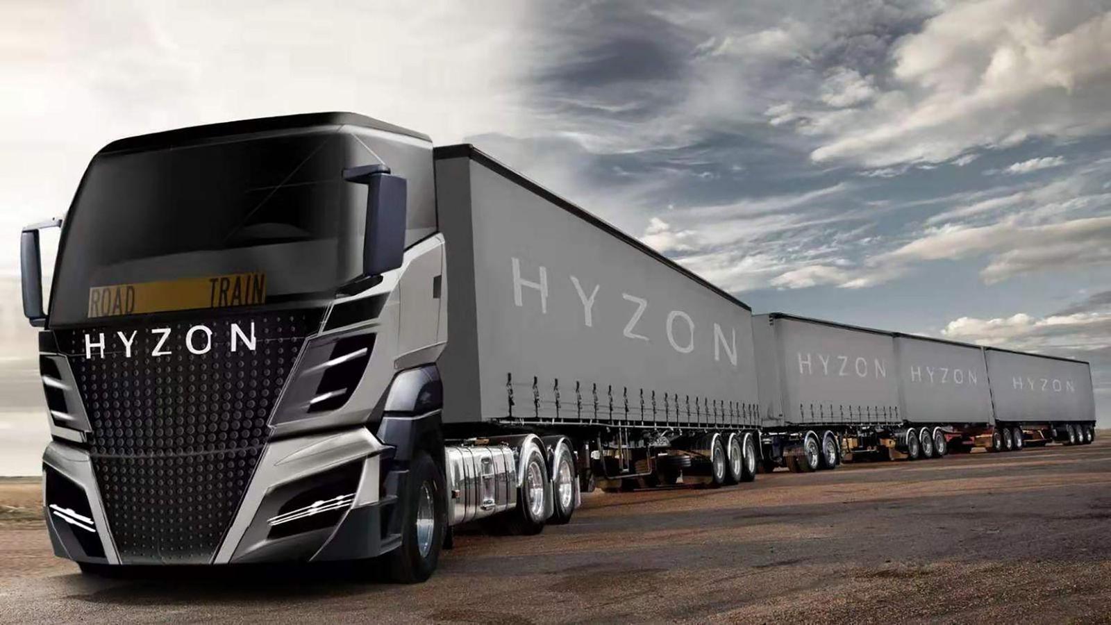 Truck von Hyzon Motors mit Wasserstoff Brennstoffzellen
