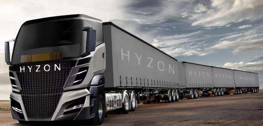 Wasserstoff-Lkw: Hyzon Motors will 140-Tonnen-Roadtrain bauen