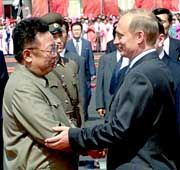 Gregor Gysi auf Putins Spuren? Der russische Präsident besuchte Nordkoreas Staatschef Kim Jong Il im vergangenen Juli