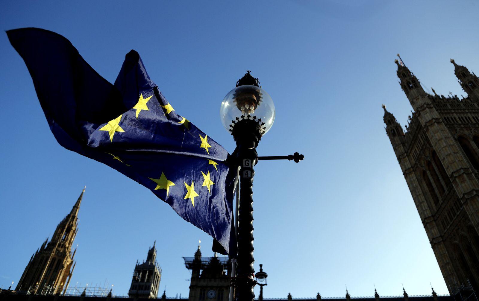 Brexit EU-Fahne London