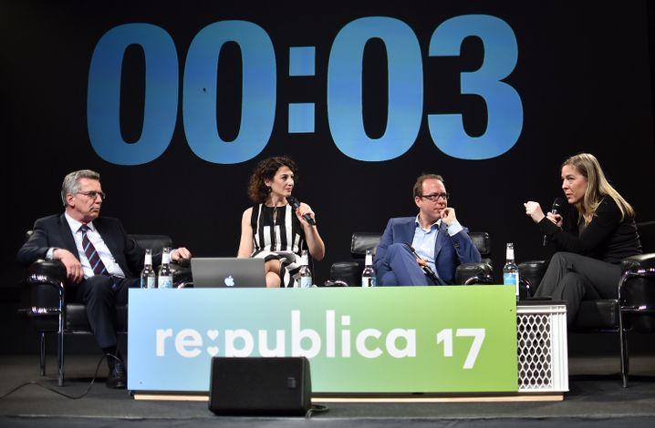 Diskussionsrunde auf der re:publica
