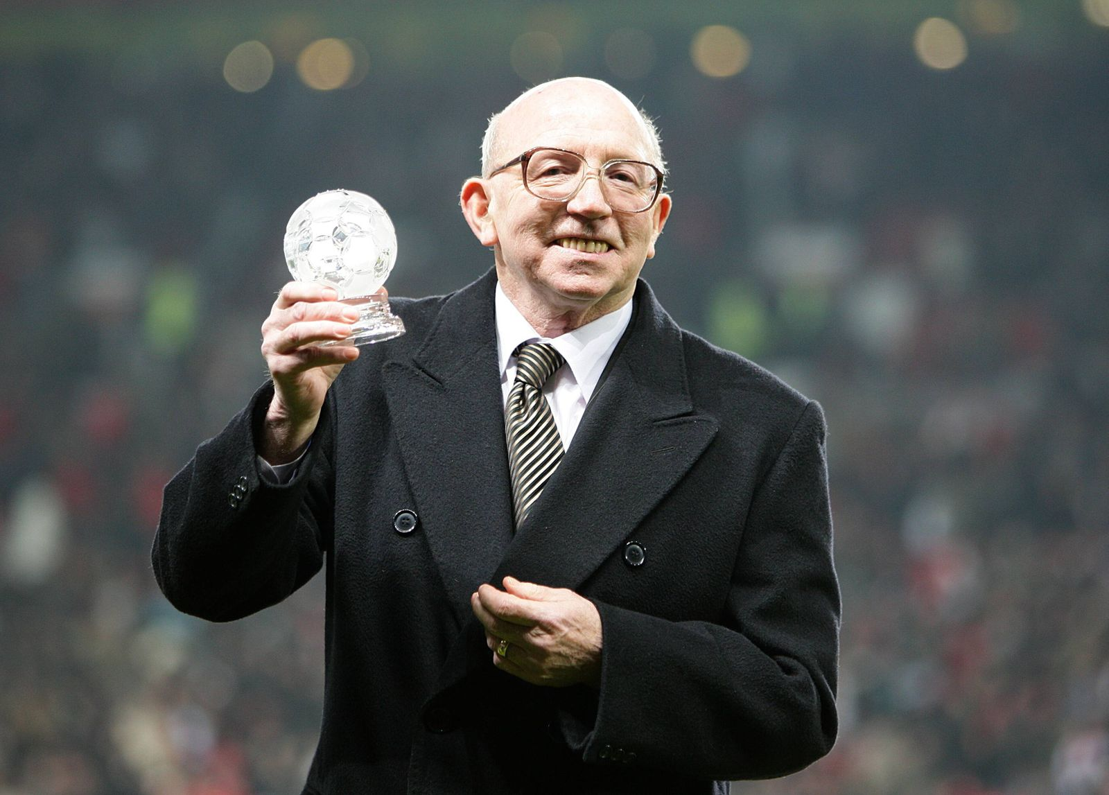Nobby Stiles File Photo File photo dated 29-12-2008 of 1966 World Cup winner Nobby Stiles is presented with an award on
