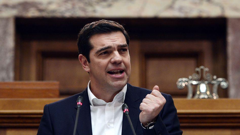 """Griechischer Premier Tsipras im Parlament: """"Austeritätspolitik ein Ende bereiten"""""""