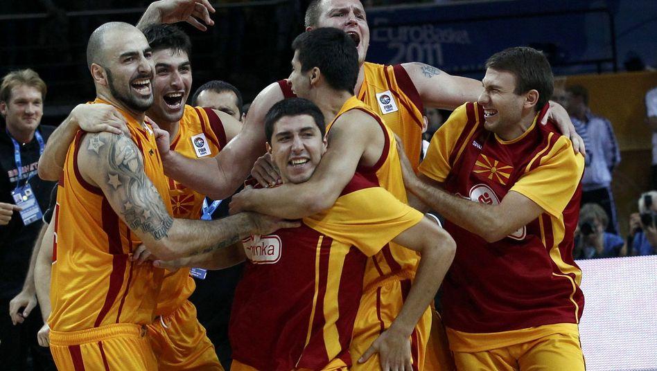 Mazedoniens Basketballer: Bei der EM Gastgeber Litauen rausgeworfen