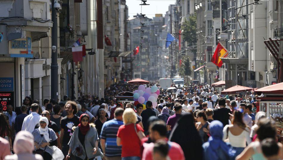 Einkaufsstraße in Istanbul