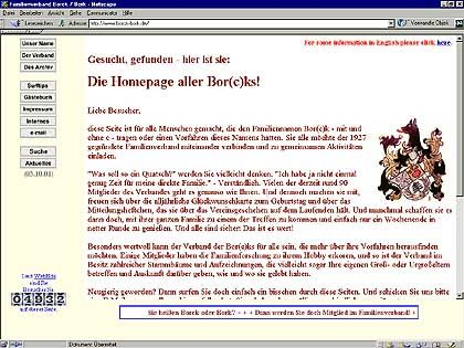"""Die """"Borck-Borks"""": Homepage eines Familienverbandes"""