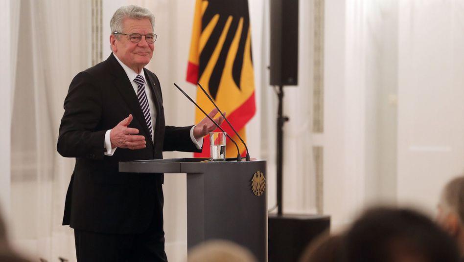 """Bundespräsident Gauck auf Schloss Bellevue (Archiv): """"Achtet die Regeln"""""""