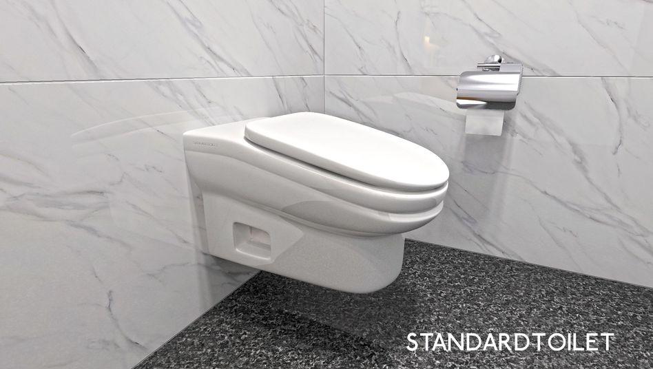 Schräges Toiletten-Patent: halb Klo, halb Rutsche