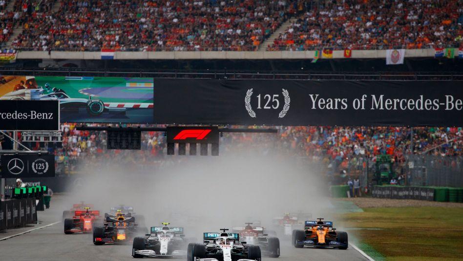 Boliden im vorerst letzten Formel-1-Rennen in Hockenheim