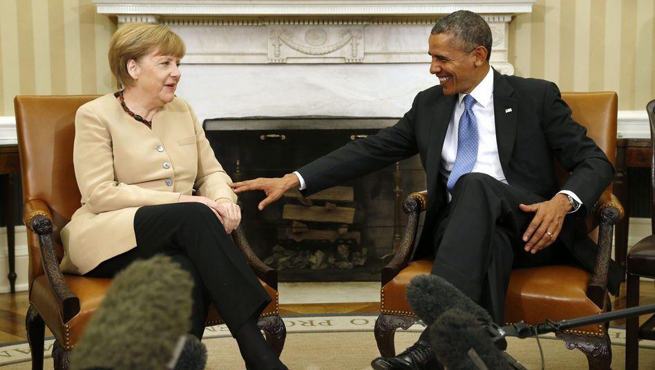 Kanzlerin Merkel, Präsident Obama: Stimulus statt Wildwest-Kapitalismus