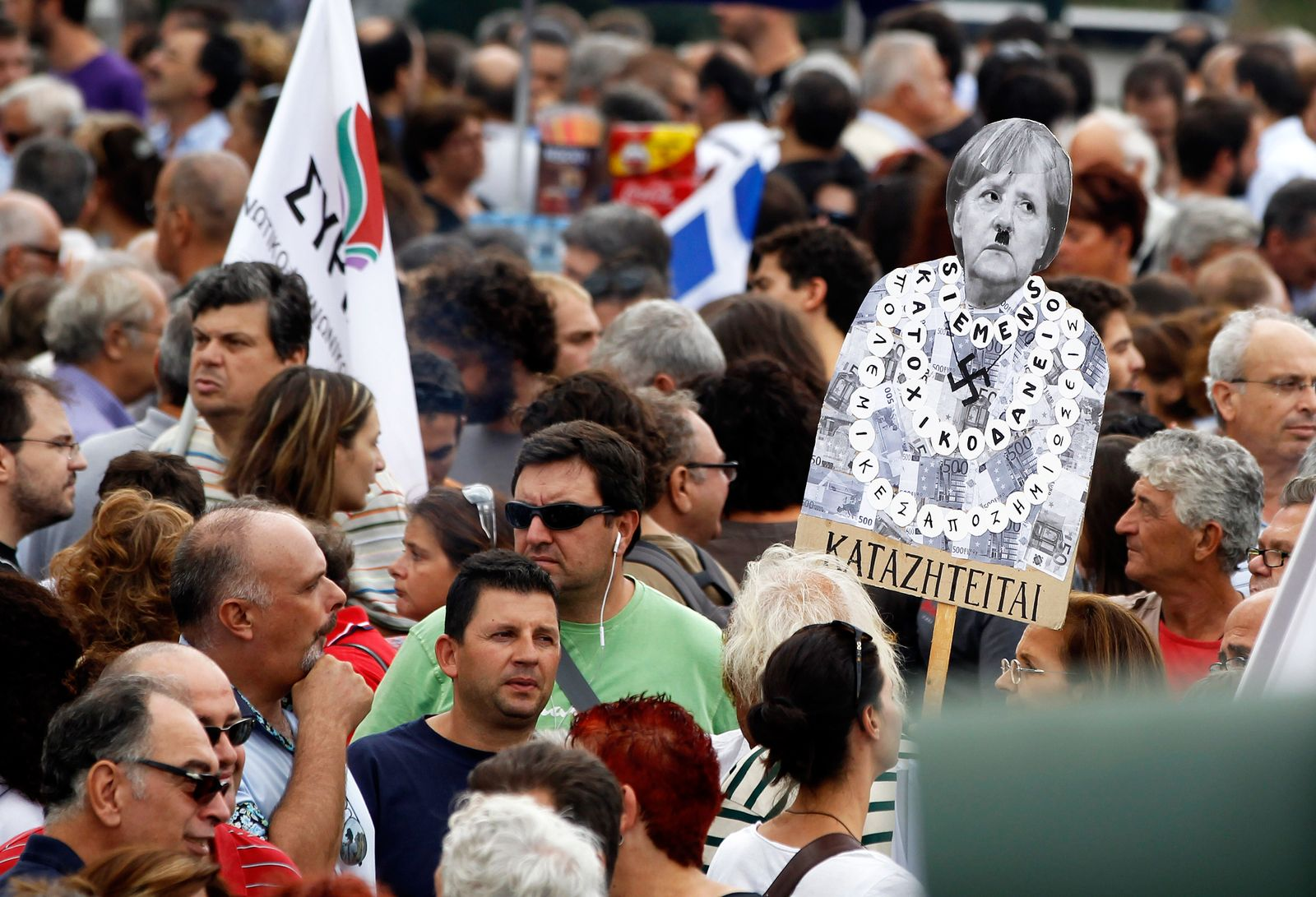 Griechenland / Protest / Merkel
