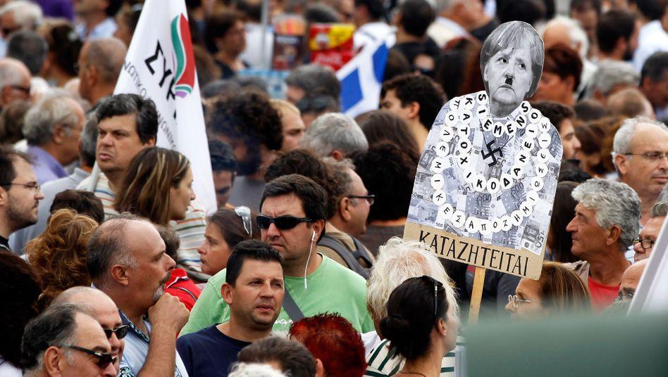 Proteste bei Merkel-Besuch 2012 in Athen: Schwieriges Verhältnis