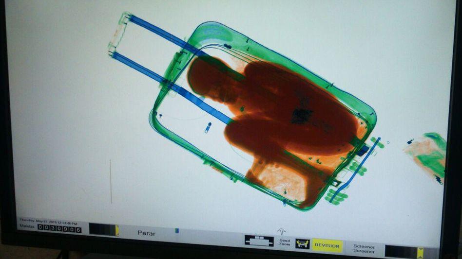 Bild des Scanners am Flughafen in Marokko (2015)
