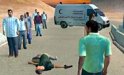 """A screenshot from the political game """"Global Conflicts: Palestine."""""""