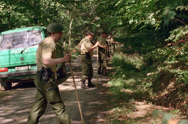 Suchaktion der Polizei bei Johannas Heimatort Ranstadt-Bobenhausen im Jahr 1999