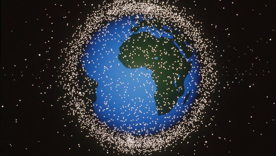 """Weltaumschrott (Daten von 1996): """"In der Beobachtung noch sehr viel mehr tun"""""""