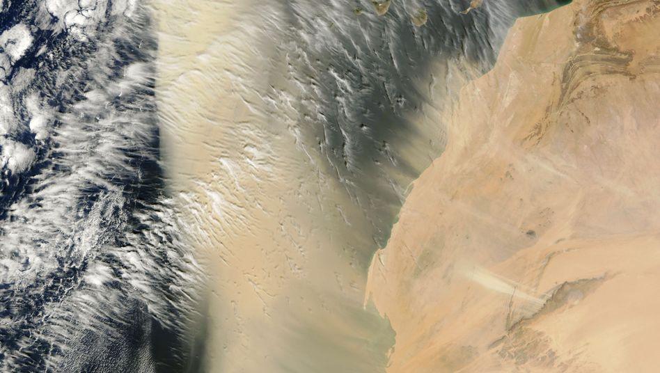 Sahara-Staub vor der Küste West-Afrikas: Welche Auswirkungen haben die Wolken?