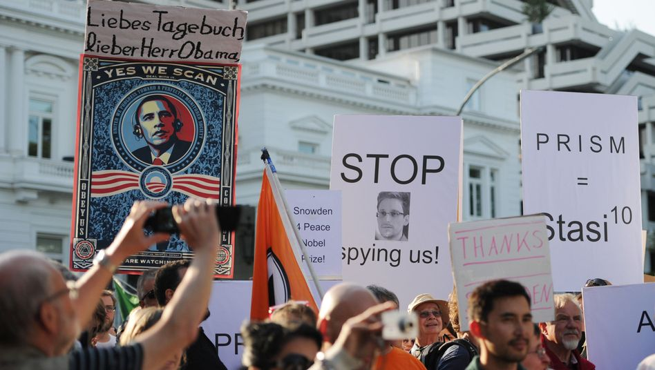 Demonstranten am 11. Juli in Hamburg: Aktivisten hoffen auf großen Protest gegen Geheimdienst-Überwachung