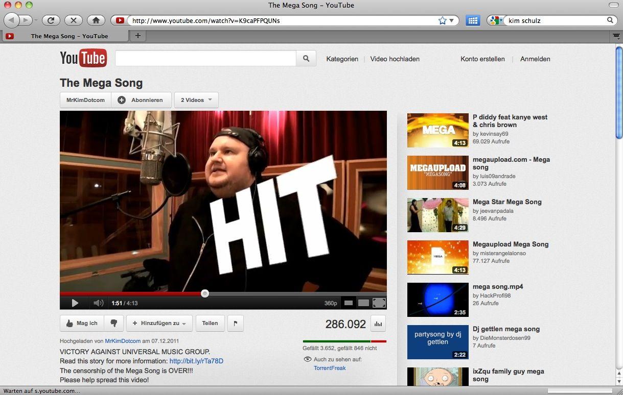 SCREENSHOT YouTube / Megasong / NETZWELT